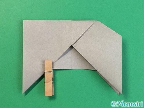 折り紙で立体的な象の折り方手順26