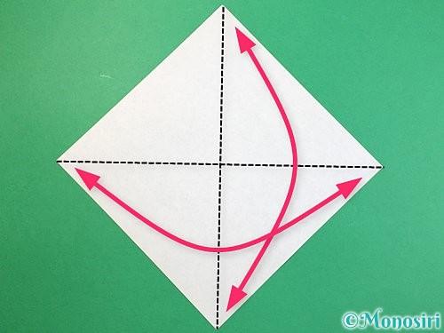 折り紙で立体的な象の折り方手順27