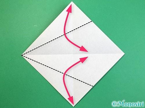 折り紙で立体的な象の折り方手順29
