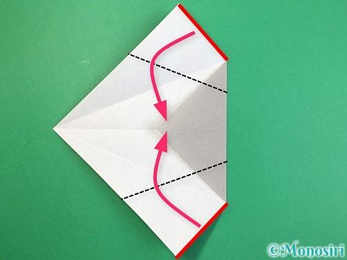 折り紙で立体的な象の折り方手順33