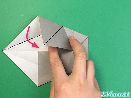 折り紙で立体的な象の折り方手順35