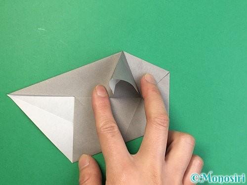 折り紙で立体的な象の折り方手順36