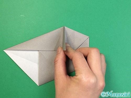 折り紙で立体的な象の折り方手順37