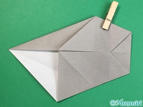 折り紙で立体的な象の折り方手順39
