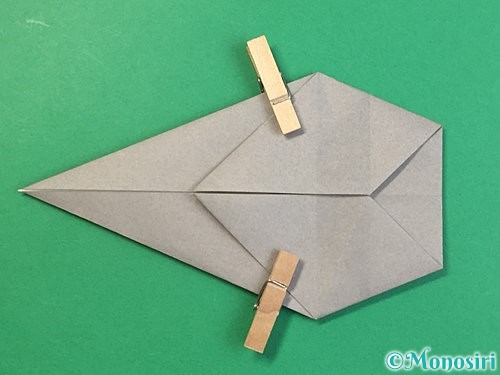 折り紙で立体的な象の折り方手順40