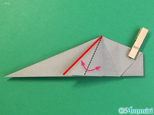 折り紙で立体的な象の折り方手順43