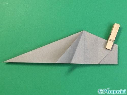 折り紙で立体的な象の折り方手順44