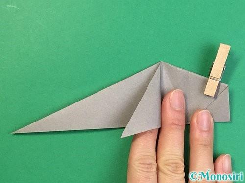 折り紙で立体的な象の折り方手順45