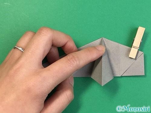 折り紙で立体的な象の折り方手順46
