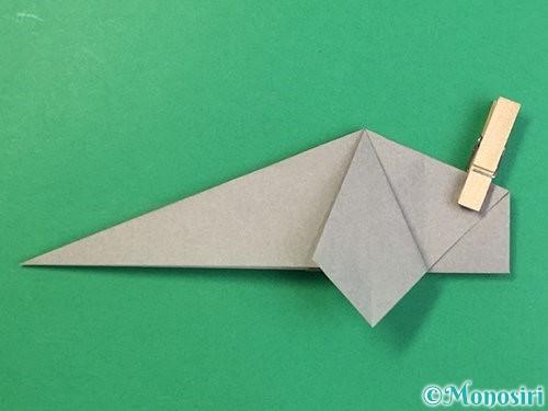 折り紙で立体的な象の折り方手順47