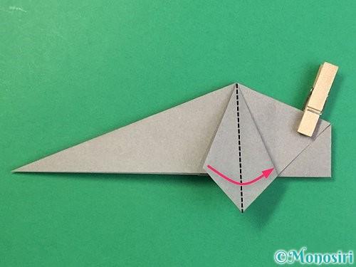 折り紙で立体的な象の折り方手順48