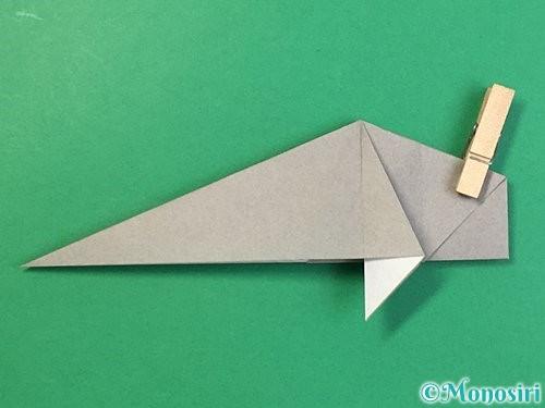 折り紙で立体的な象の折り方手順49