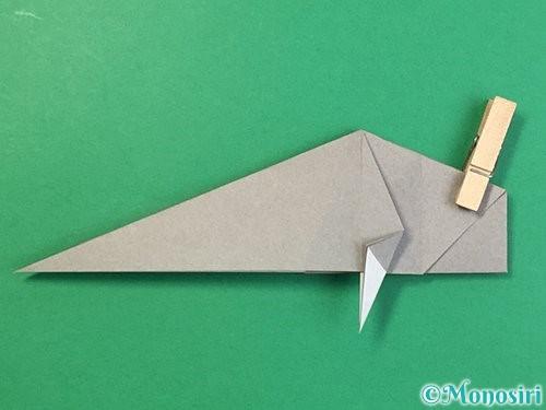 折り紙で立体的な象の折り方手順51