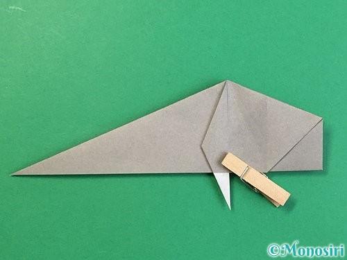 折り紙で立体的な象の折り方手順53