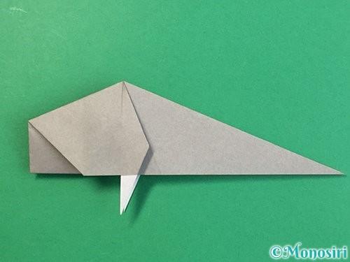 折り紙で立体的な象の折り方手順54