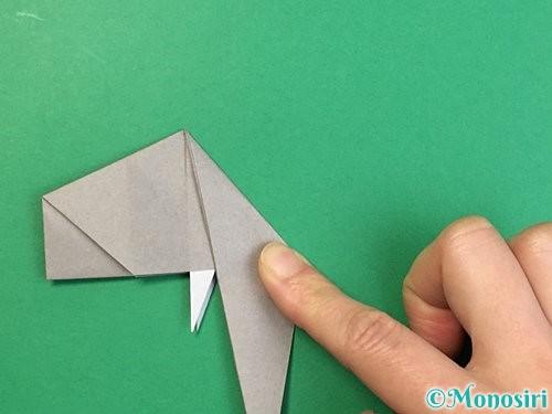 折り紙で立体的な象の折り方手順56