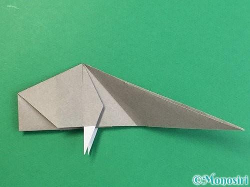 折り紙で立体的な象の折り方手順57