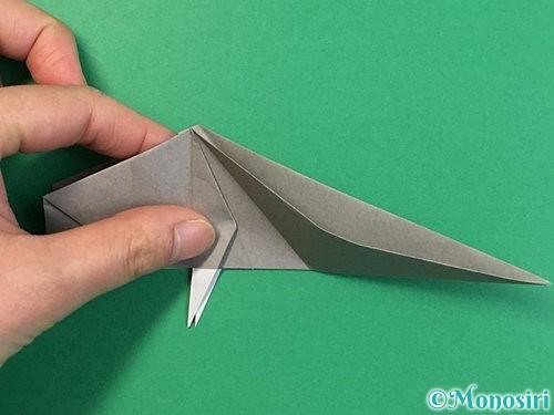 折り紙で立体的な象の折り方手順58