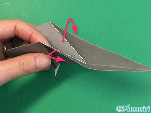 折り紙で立体的な象の折り方手順59