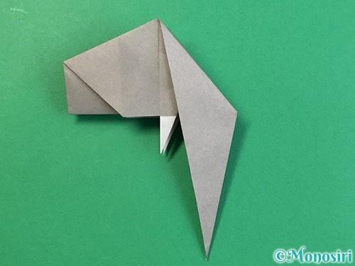 折り紙で立体的な象の折り方手順62