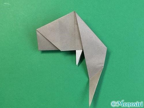折り紙で立体的な象の折り方手順64