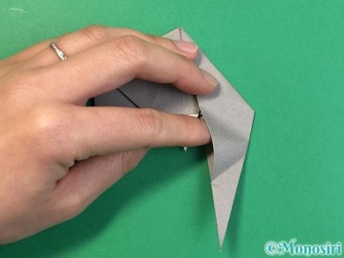 折り紙で立体的な象の折り方手順65