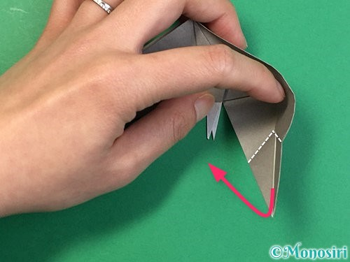 折り紙で立体的な象の折り方手順66