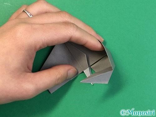 折り紙で立体的な象の折り方手順67