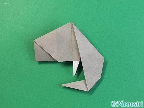 折り紙で立体的な象の折り方手順68