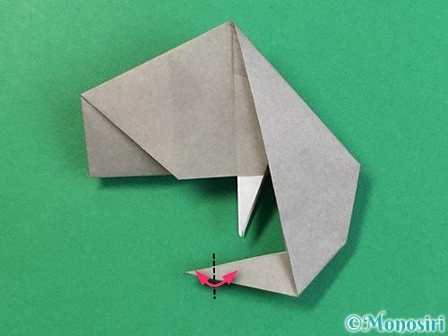 折り紙で立体的な象の折り方手順69