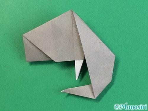 折り紙で立体的な象の折り方手順70