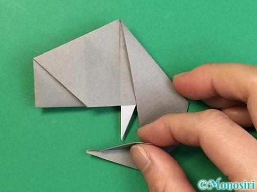 折り紙で立体的な象の折り方手順71