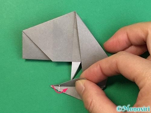 折り紙で立体的な象の折り方手順72