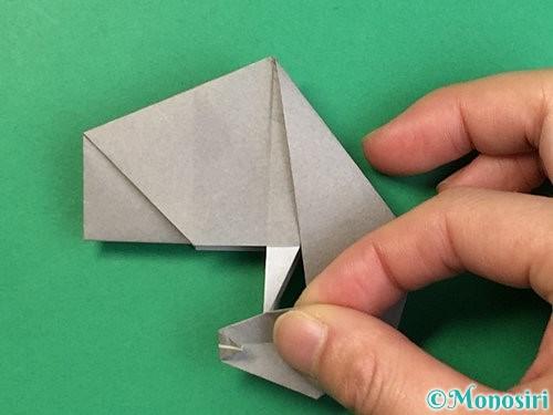折り紙で立体的な象の折り方手順73