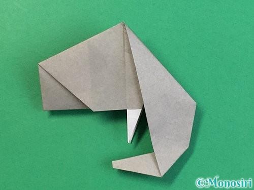 折り紙で立体的な象の折り方手順74