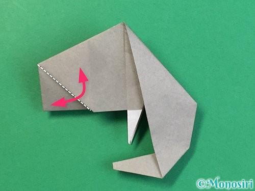 折り紙で立体的な象の折り方手順75