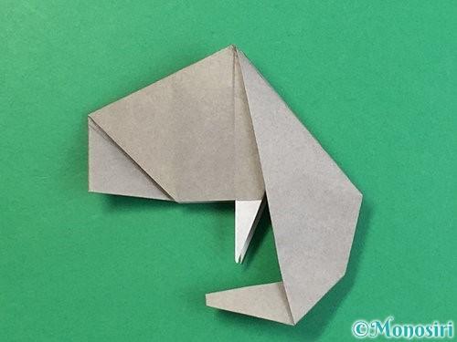 折り紙で立体的な象の折り方手順76