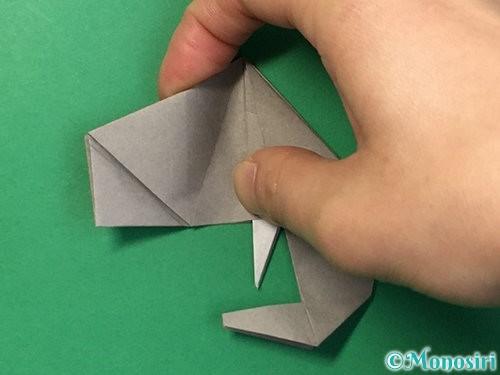 折り紙で立体的な象の折り方手順77
