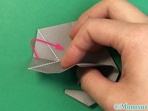 折り紙で立体的な象の折り方手順78