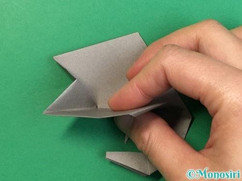 折り紙で立体的な象の折り方手順79