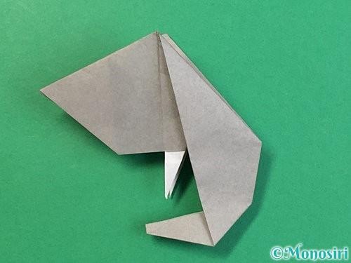 折り紙で立体的な象の折り方手順80