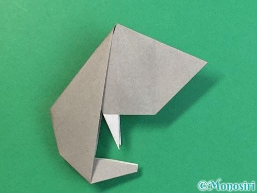 折り紙で立体的な象の折り方手順81
