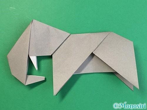 折り紙で立体的な象の折り方手順82