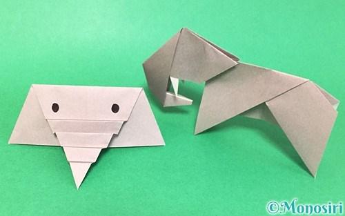 折り紙で折った象