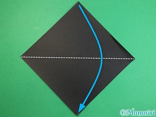 折り紙でパンダの折り方手順1