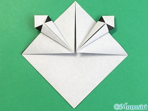 折り紙でパンダの折り方手順16