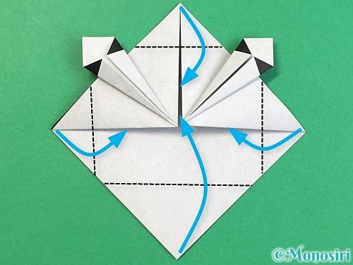 折り紙でパンダの折り方手順17