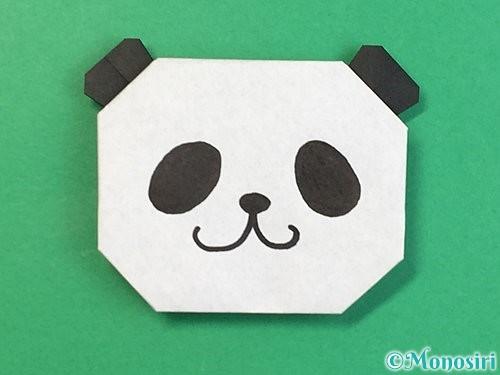 折り紙でパンダの折り方手順22
