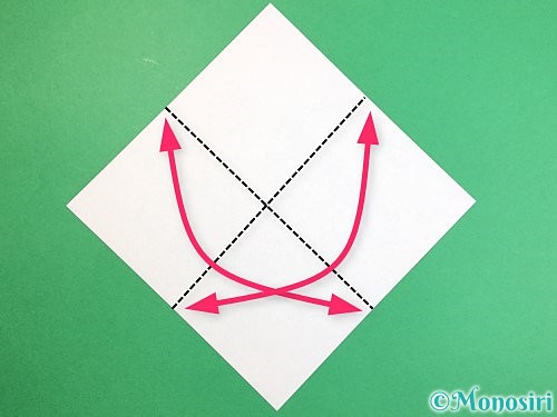 折り紙で魚の折り方手順1