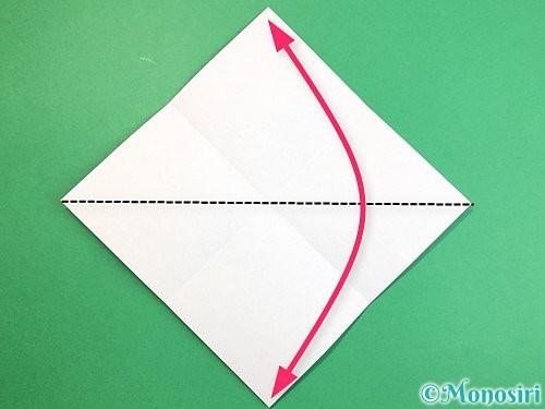 折り紙で魚の折り方手順3